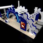 طراحی غرفه نمایشگاه گروه صنعتی آذر یاب 97