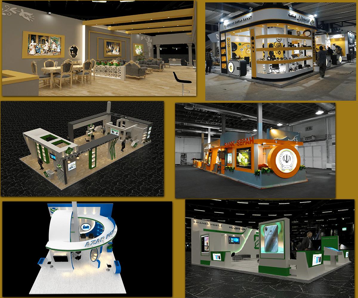 ساخت انواع غرفه نمایشگاه